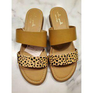 Mila Paoli Size 8 Sandals Calf Hair Slides